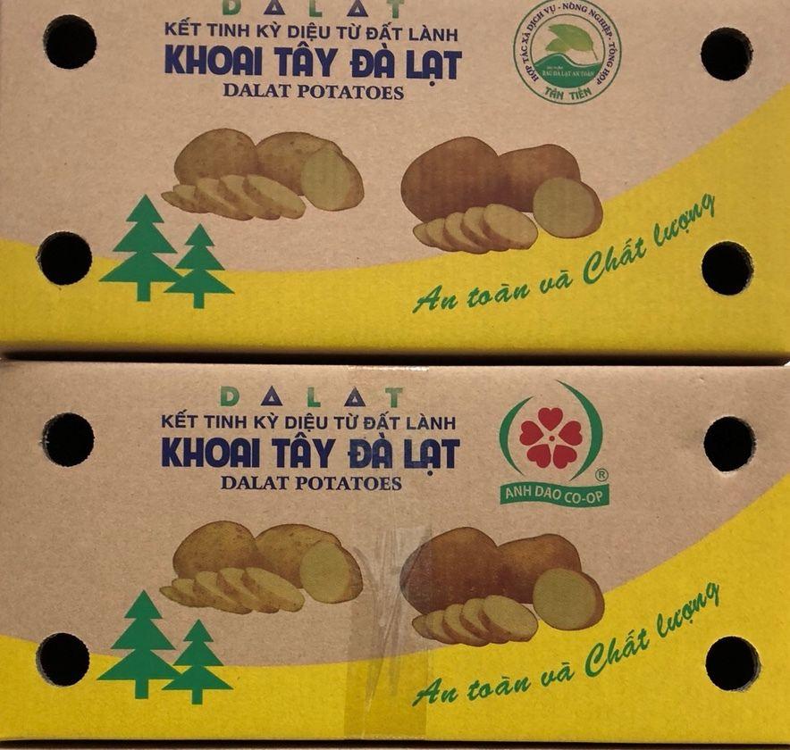 Dán tem cho khoai tây Đà Lạt để tránh hàng Trung Quốc nhập nhèm