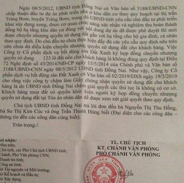 """Bị doanh nghiệp quy trách nhiệm chậm ra """"sổ đỏ"""", tỉnh Đồng Nai nói gì? - 2"""