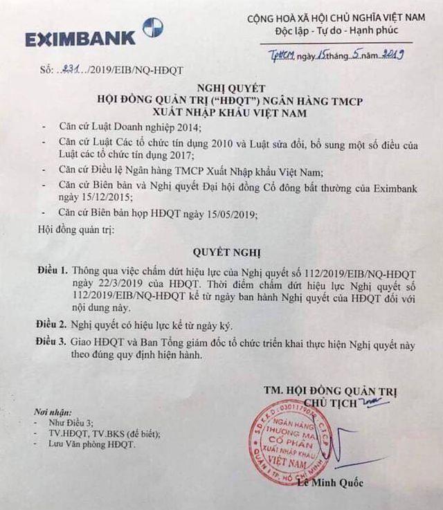Toà huỷ bỏ lệnh cấm, bà Lương Thị Cẩm Tú trở lại ghế Chủ tịch HĐQT Eximbank - 3