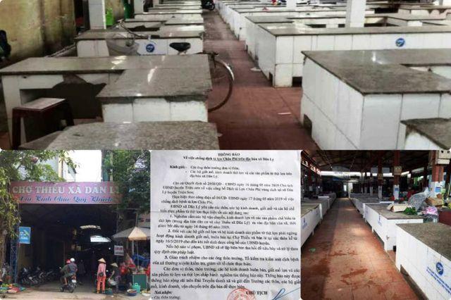 """Chính quyền thông báo cấm, hàng trăm sạp thịt lợn tại chợ """"gác thớt"""" - 2"""