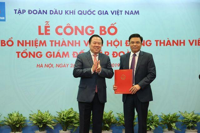 Ông Lê Mạnh Hùng được bổ nhiệm là Tổng giám đốc Tập đoàn Dầu khí - 1
