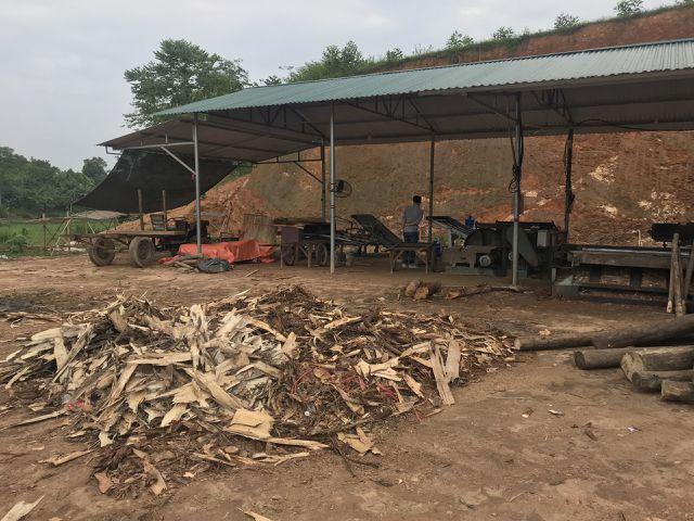 Hệ luỵ xưởng bóc mọc như nấm sau mưa: Chặn cầu tranh nhau từng xe gỗ - 1