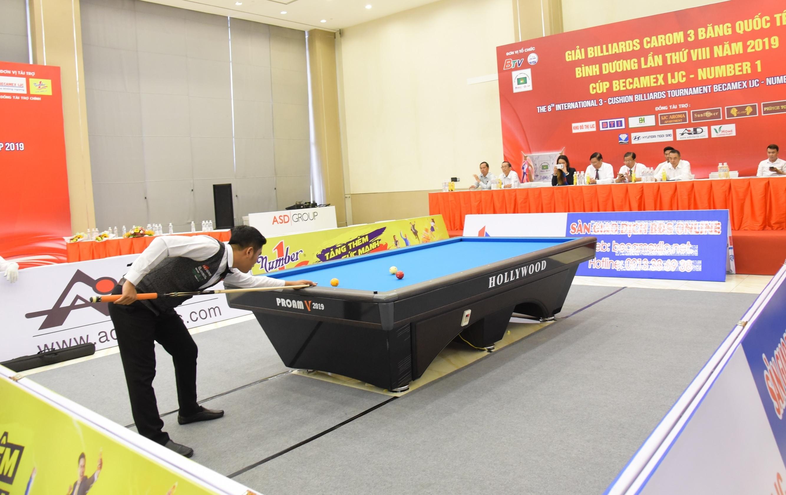 Nước tăng lực Number 1 tiếp tục đồng hành cùng Giải Billiards Carom 3 băng quốc tế Bình Dương