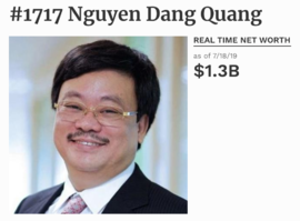 Tỷ phú Nguyễn Đăng Quang bất ngờ