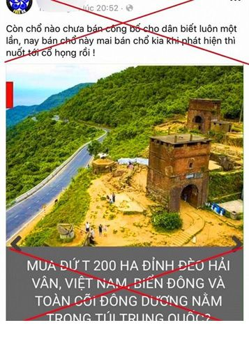 Thông tin bán 200ha đất trên núi Hải Vân cho người Trung Quốc là sai sự thật
