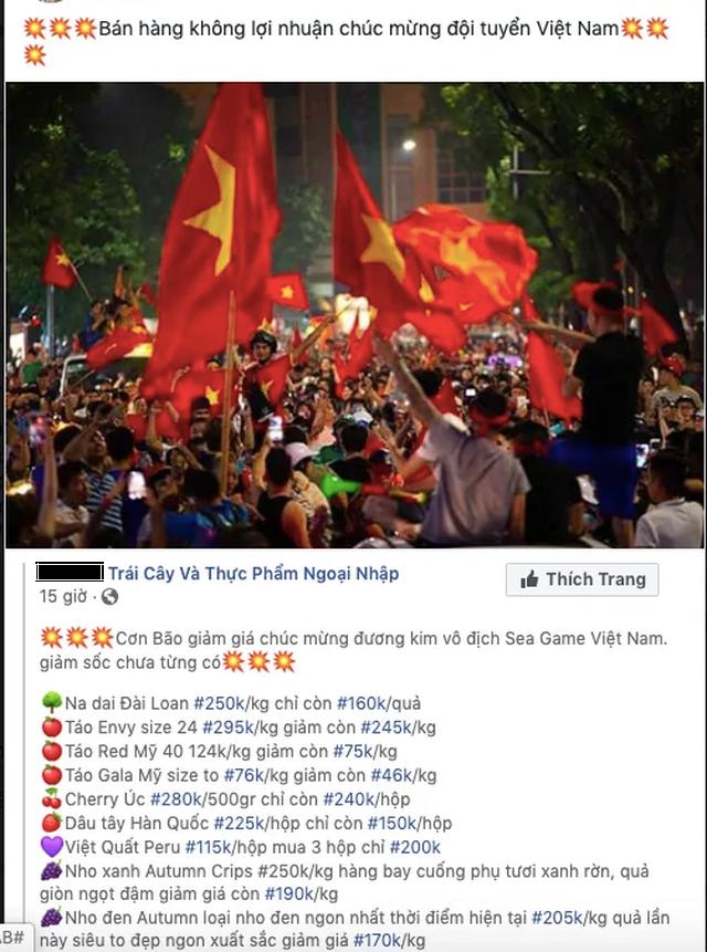 Đến đôi tất, củ khoai cũng ăn theo phong trào giảm giá mừng bóng đá Việt Nam - 1