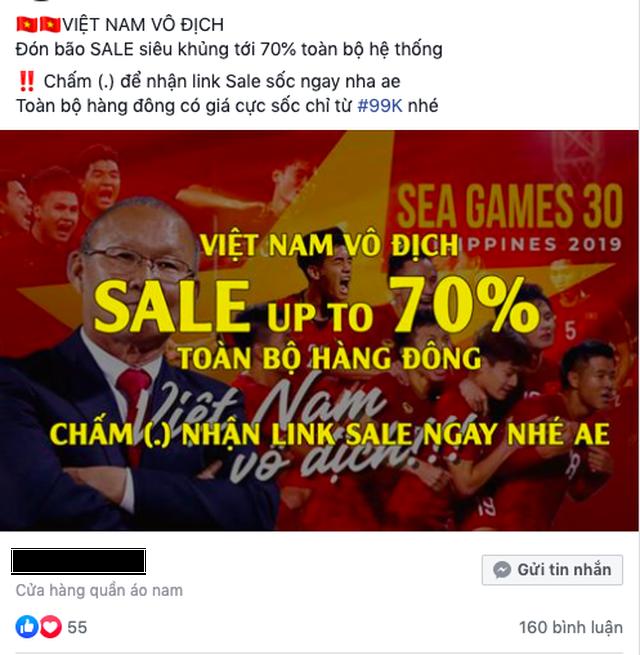 Đến đôi tất, củ khoai cũng ăn theo phong trào giảm giá mừng bóng đá Việt Nam - 2