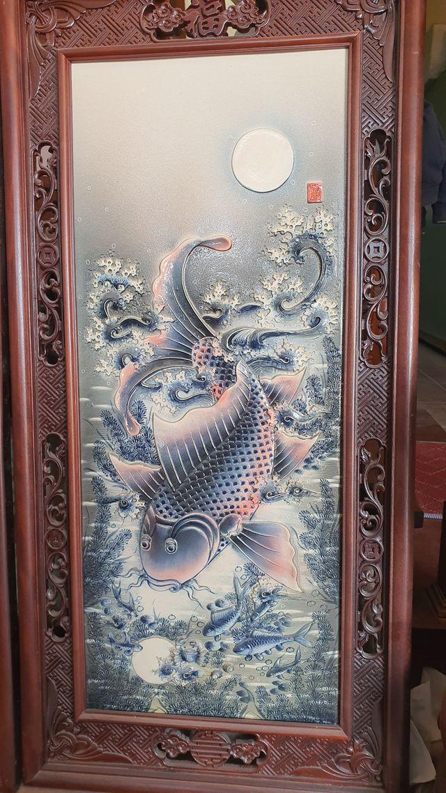 """Bị """"hét"""" gần 20 triệu đồng cặp tranh gốm cá chép vàng, về tận """"cửa lò"""" mua nửa giá - 8"""