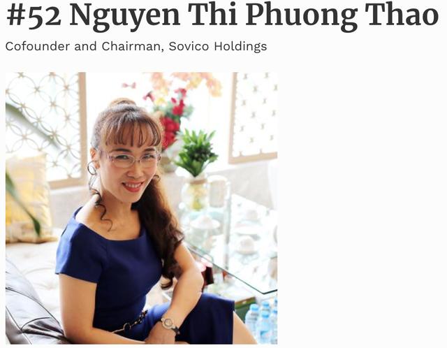 """2,7 tỷ USD trong tay, bà Nguyễn Thị Phương Thảo vào top """"quyền lực nhất thế giới"""" - 1"""