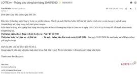 Lại đến lượt Lotte.vn chính thức đóng cửa tại Việt Nam