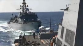 Tàu chiến Nga bị