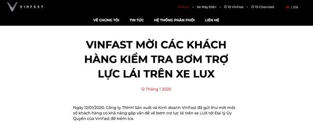 """VinFast Lux có """"vấn đề"""" ở bơm trợ lực lái - 2"""