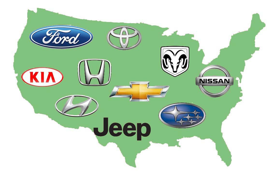 10 thương hiệu bán nhiều xe nhất nước Mỹ năm 2019