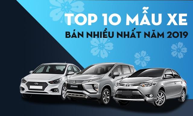 Top 10 mẫu xe bán nhiều nhất thế giới năm 2019 - 2