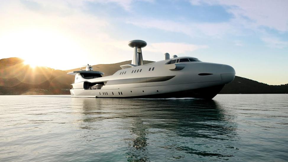 Siêu du thuyền độc nhất vô nhị trên thế giới có thiết kế giống máy bay