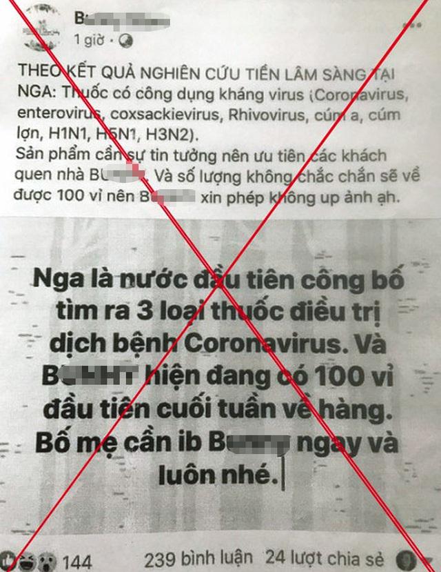 Người phụ nữ Hà Nội nhận đặt hàng thuốc trị virus corona - 1