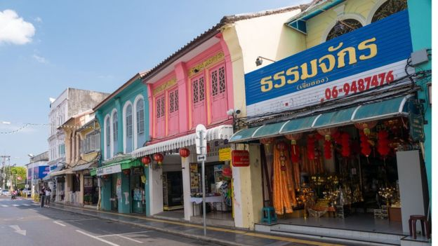 Deserted streets of old Phuket Town