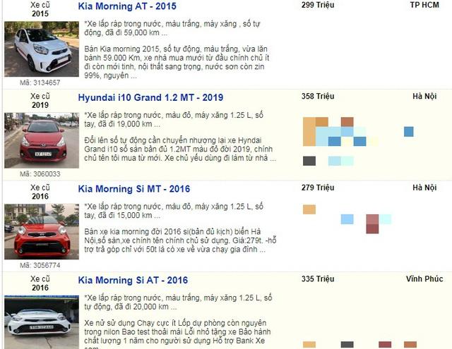 Nhiều mẫu xe cũ đồng loạt hạ giá xuống dưới 400 triệu đồng vì quá ế  - 7