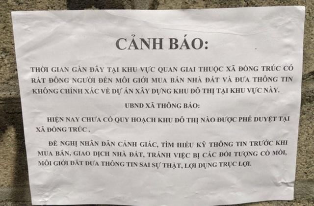 """Rộ lên sau tin đồn, đất Đồng Trúc - Thạch Thất bắt đầu """"hạ sốt - 2"""