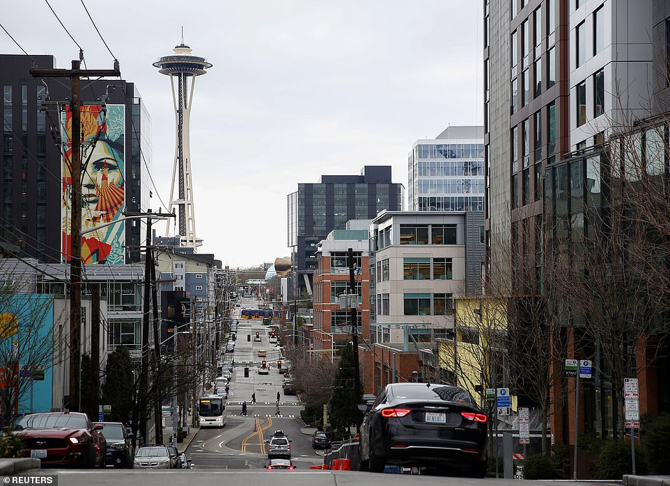 Description: Seattle streets empty out after Amazon, Facebook and others tell ...