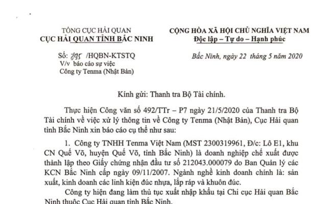 Bất ngờ: Hải quan Bắc Ninh nói Tenma không thuộc diện phải đóng thuế VAT - 1