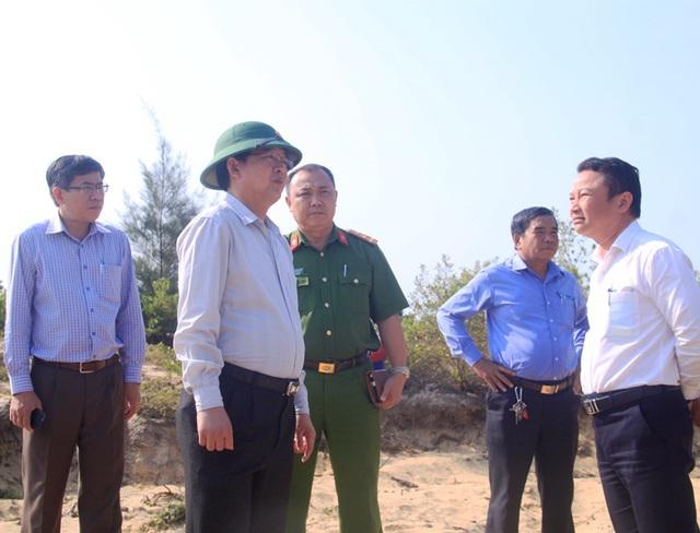 Quyết cưỡng chế các trường hợp lấn chiếm đất đai ở khu kinh tế Nhơn Hội