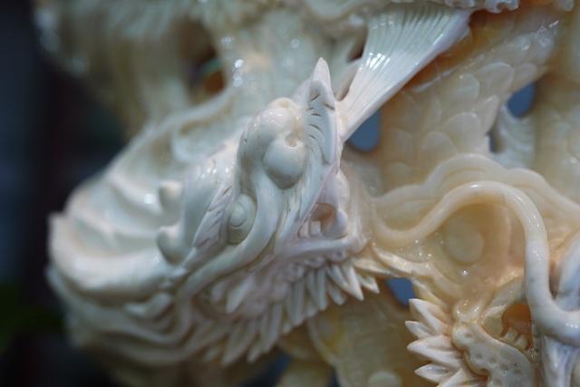 Chiêm ngưỡng bức Cửu Long Tranh Châu bằng vỏ sò nghìn năm tuổi - 5