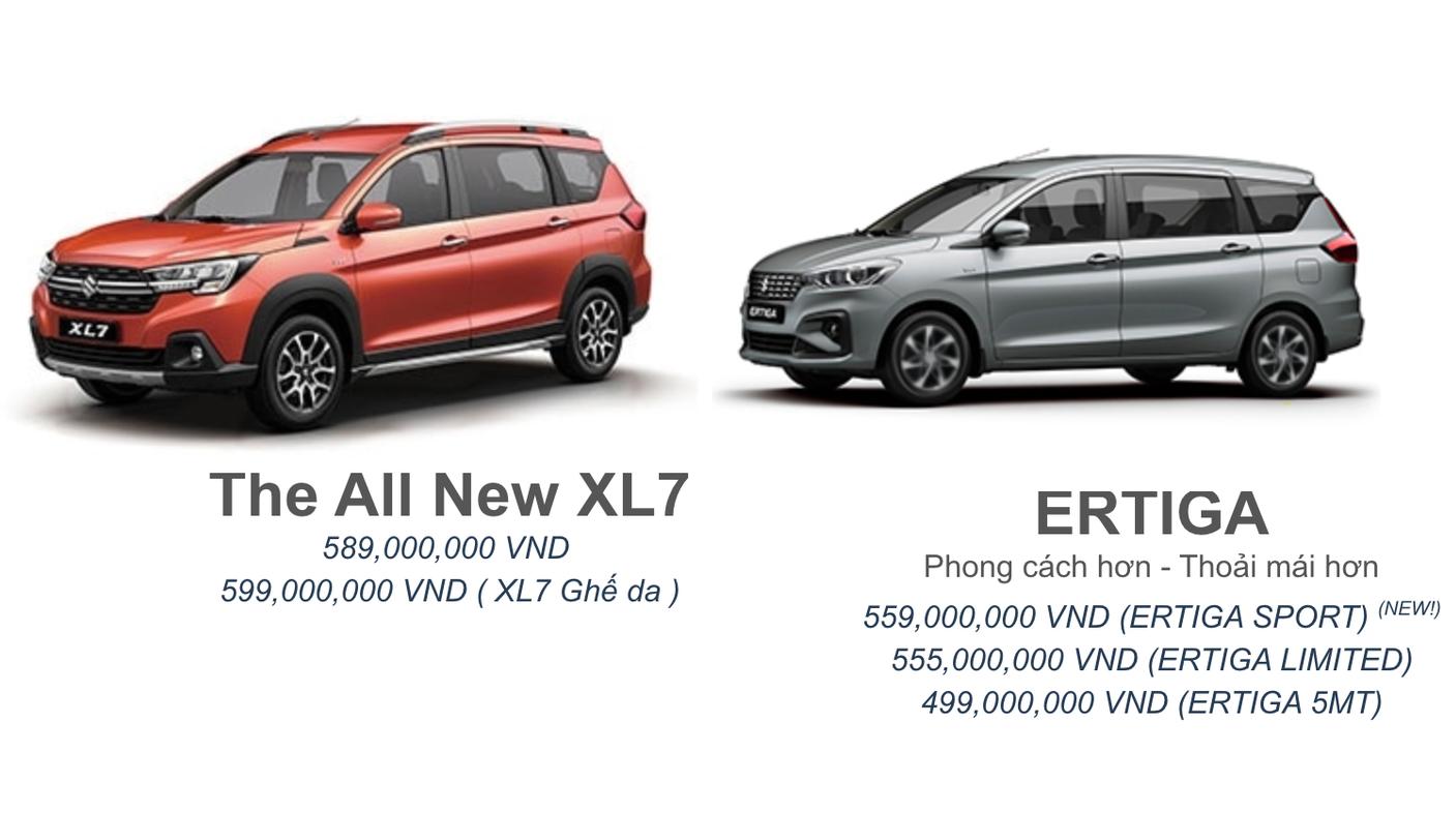 Suzuki XL7 thêm bản mới, dồn lực đấu Mitsubishi Xpander
