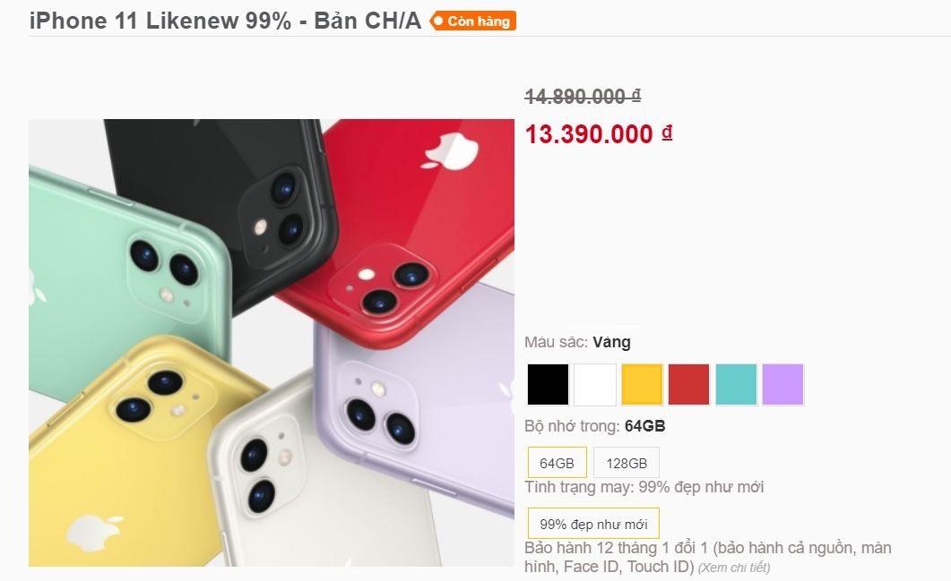 iPhone 11 xách tay Trung Quốc