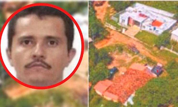 Trùm ma túy El Mencho và bệnh viện do hắn đầu tư xây dựng ở bang Jalisco. Ảnh: DeOchonews.