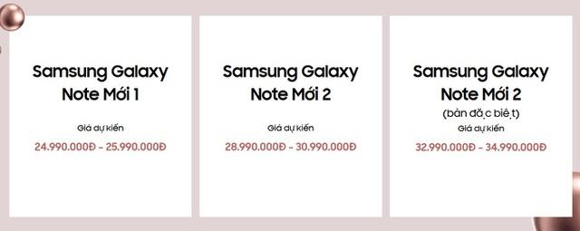 """Lộ giá bán """"chát"""" của bộ đôi Galaxy Note20 và Galaxy F Fold 2 sắp ra mắt - 2"""