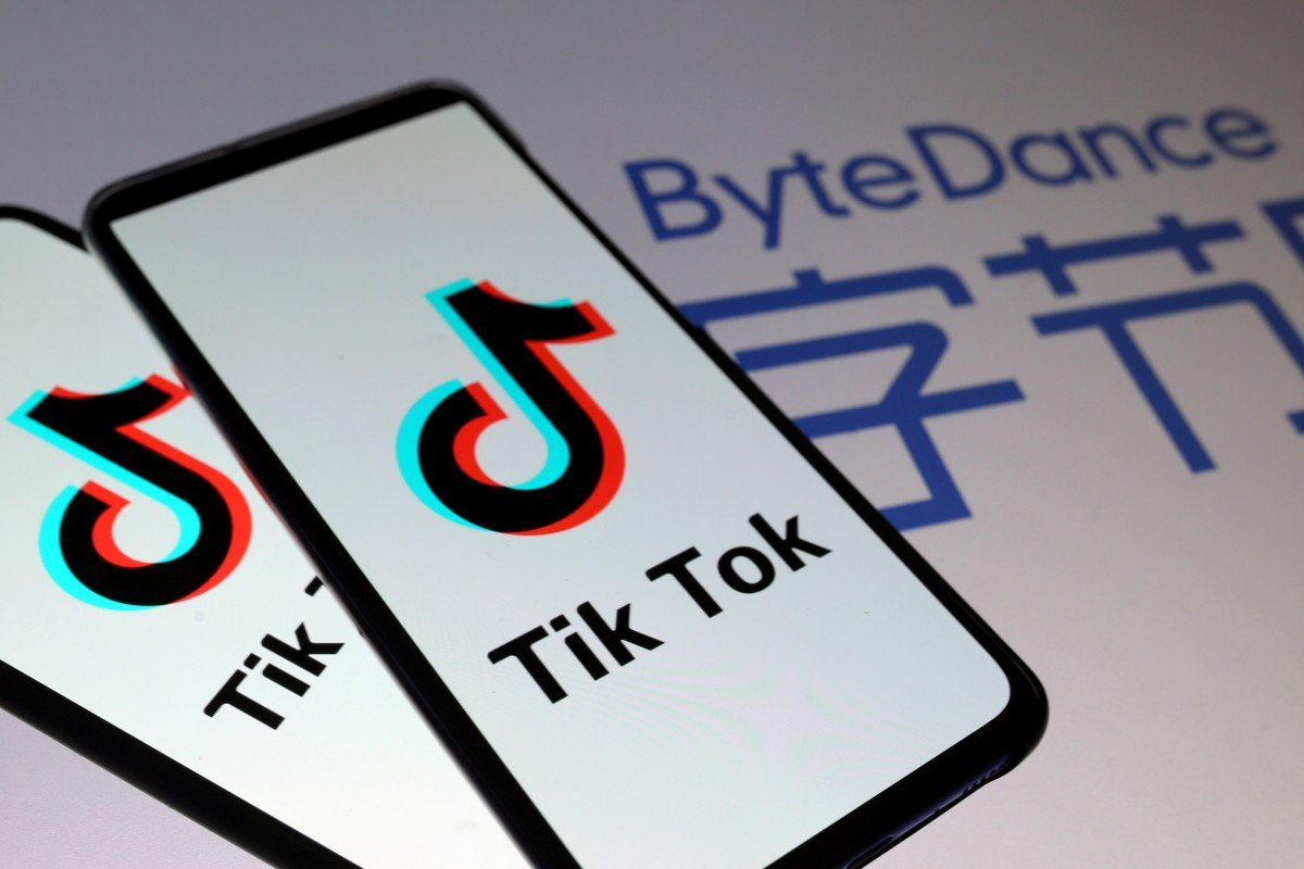 TikTok logos are seen on smartphones in front of a displayed ByteDance logo in this illustration taken November 27, 2019. Photo: Reuters
