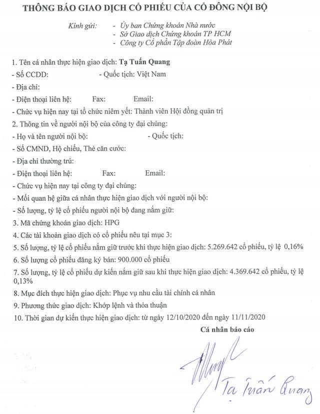 """Cần tiền, """"tướng của ông Trần Đình Long chớp thời cơ bán cổ phiếu - 1"""