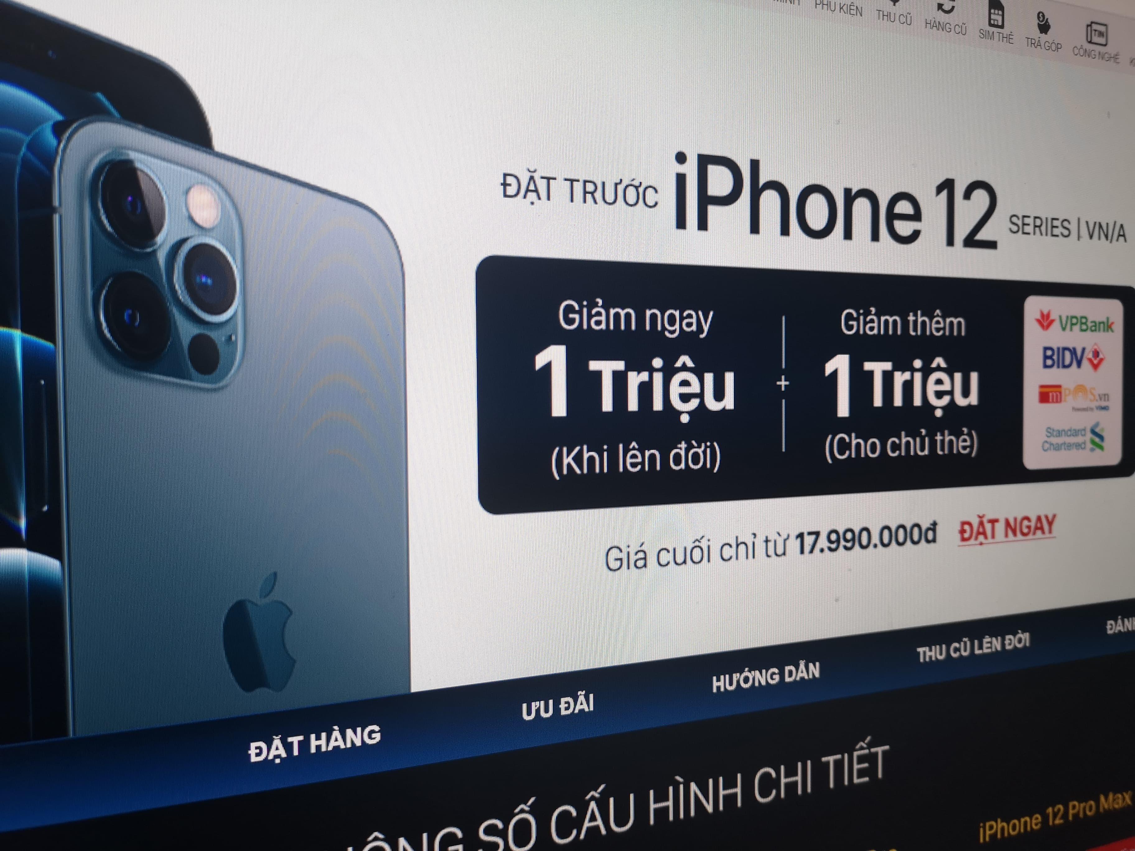 Đại lý giảm giá, tung nhiều ưu đãi trước khi mở bán iPhone 12 tại Việt Nam