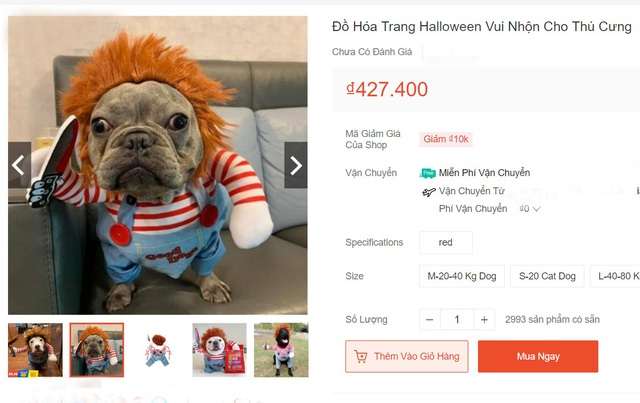 Chủ nhân rút hầu bao, chi đậm sắm đồ Halloween cho thú cưng - 4