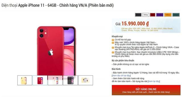 Giá bán iPhone 11 chính hãng giảm mạnh, rẻ hơn cả hàng xách tay - 1