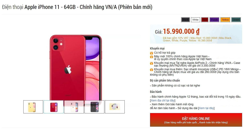 Giá bán iPhone 11 chính hãng giảm mạnh, rẻ hơn cả hàng xách tay