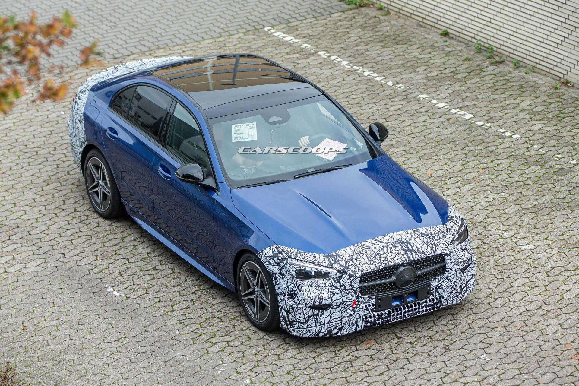 Mercedes C-Class thế hệ mới lộ diện trên đường thử