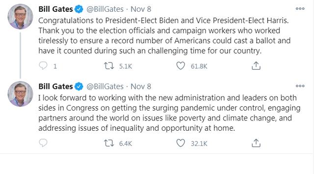 Bill Gates, Jeff Bezos nói gì trước chiến thắng của Joe Biden? - 3