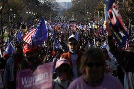 """""""Biển"""" người ủng hộ ông Trump tuần hành dậy sóng thủ đô Washington"""