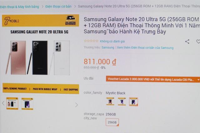 iPhone 12 Pro Max, Galaxy Note20 giá hơn 900.000 đồng tràn lan trên Lazada - 2