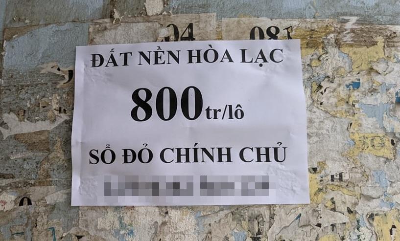 Nửa năm sau cơn sốt đất Đồng Trúc, đất Hòa Lạc lại