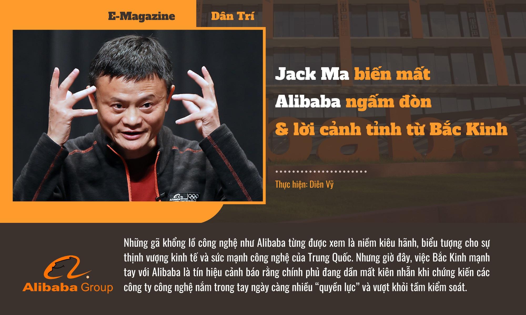 Jack Ma biến mất, Alibaba ngấm đòn  và lời cảnh tỉnh từ Bắc Kinh