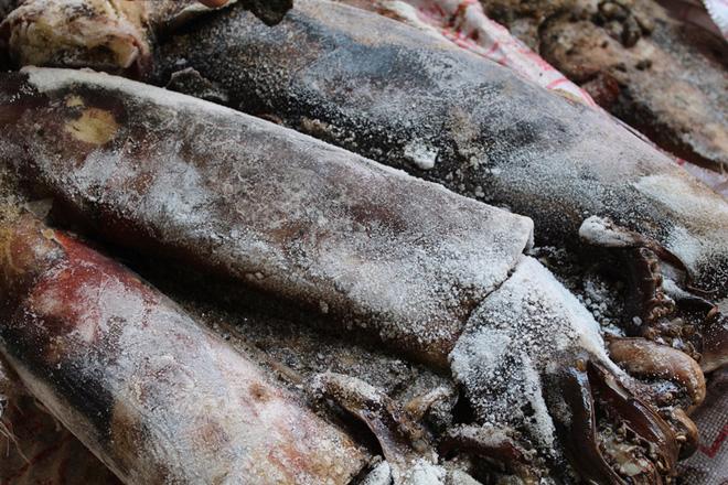 Hơn nửa tấn mực thối rữa nhập lậu từ Trung Quốc suýt lên bàn nhậu