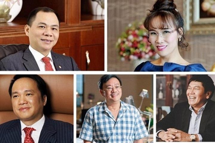 Các tỷ phú giàu nhất Việt Nam cùng trúng đậm trước Tết