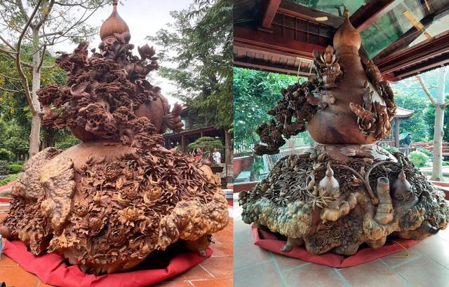 Choáng ngợp với bình hồ lô bằng gỗ, nặng 6 tấn độc nhất Việt Nam - 9