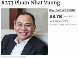 Tỷ phú Phạm Nhật Vượng đang có bao nhiêu tiền?
