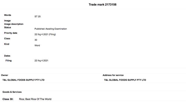Gạo ngon nhất thế giới bị doanh nghiệp Úc đăng ký bảo hộ thương hiệu - 1