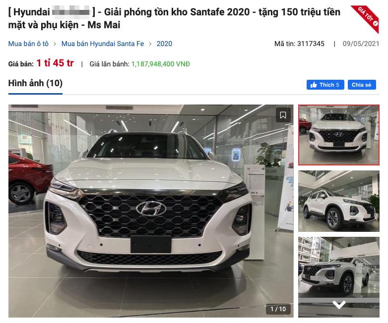 Đại lý giảm 150 triệu đồng cho Hyundai SantaFe: