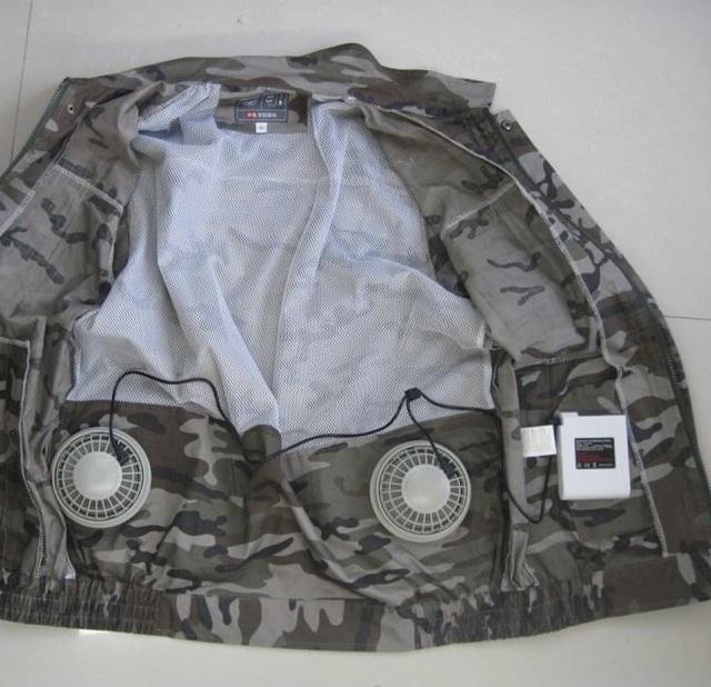 Bỏ tiền triệu mua áo gắn điều hòa hạ nhiệt nắng nóng như thiêu đốt - 1